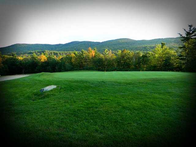 A view of the 3rd hole at Crotched Mountain Golf Club