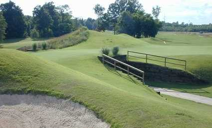 A view of the tunnel going under the double green of #13 and #15 at North Creek Golf Club