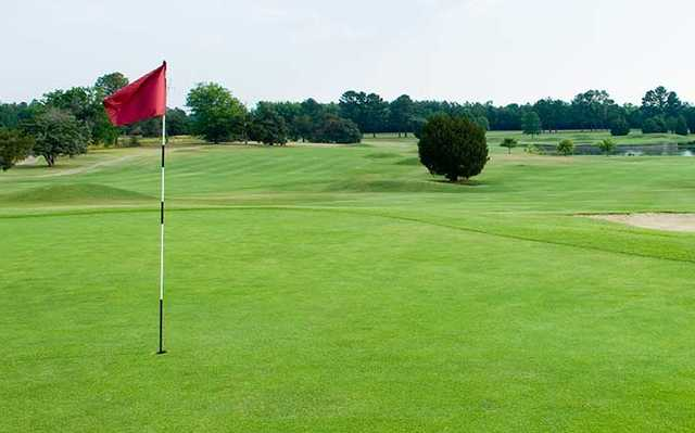 A view of a hole at Mississippi State University Golf Club