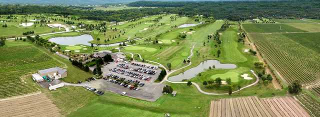 Aerial view from Rockway Vineyards Golf Course