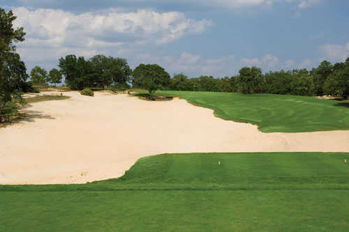 A view from a tee at Dunes Golf Club
