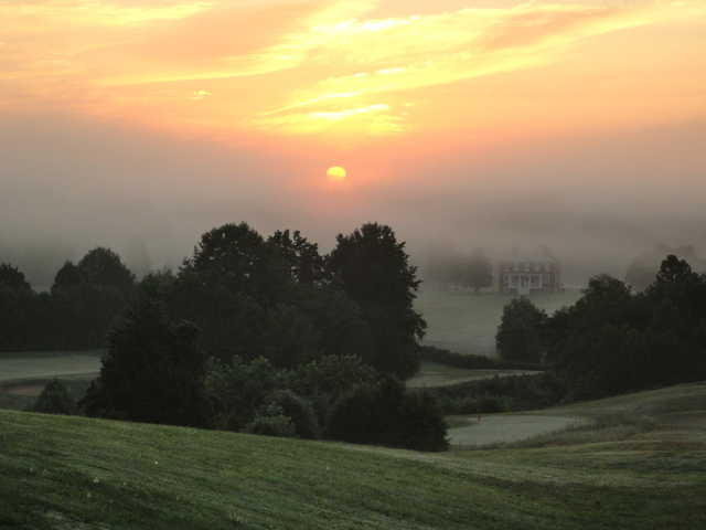 An early morning view from Rapidan Golf Club