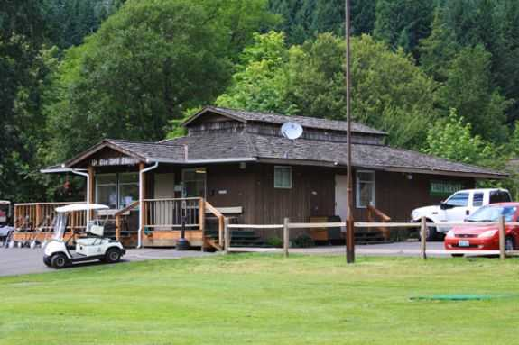 A view of the clubhouse at Beacon Rock Golf