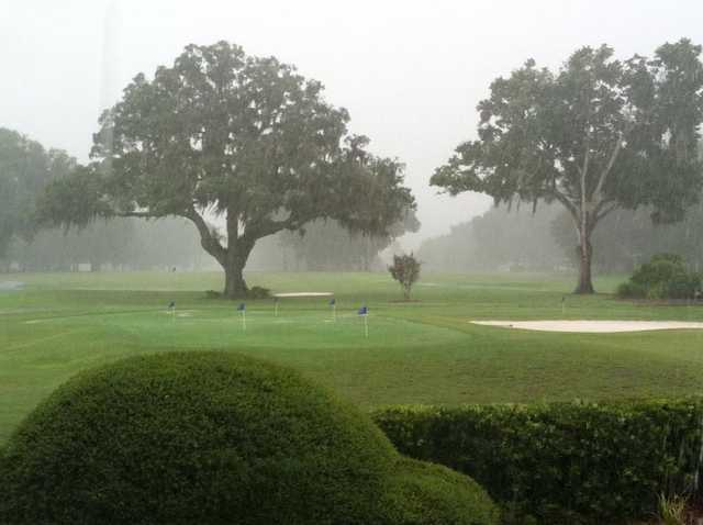 A view of the practice area at Water Oak Country Club