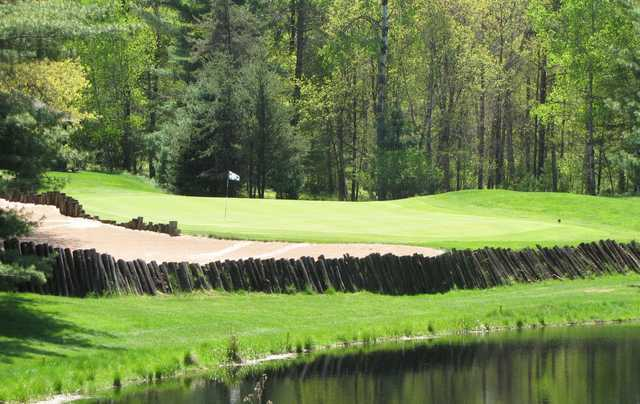 A view of the 16th green at Timber Ridge Golf Club