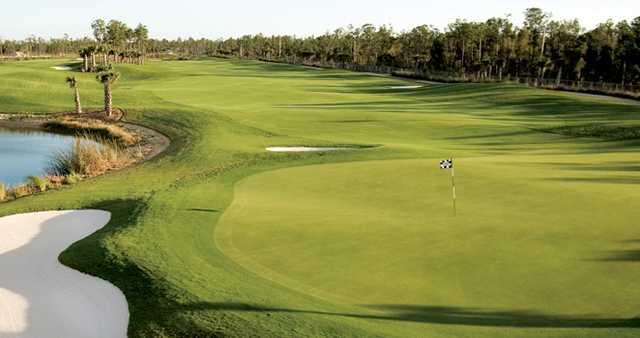 A view of one of the signature holes from Magnolia Landing Golf & Country Club