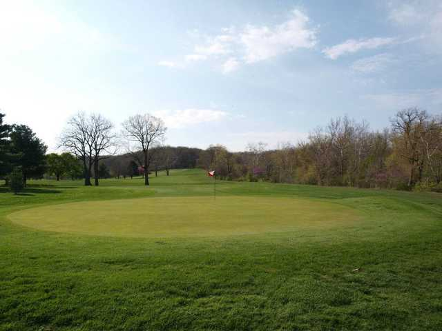 A view of the 5th green at Harrison Park Golf Course