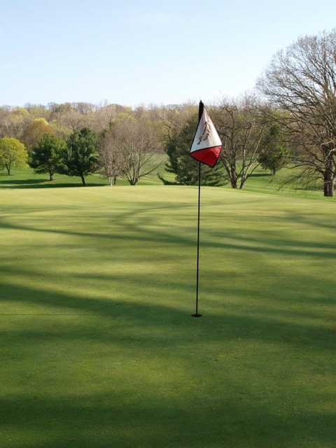 A view of hole #4 at Harrison Park Golf Course