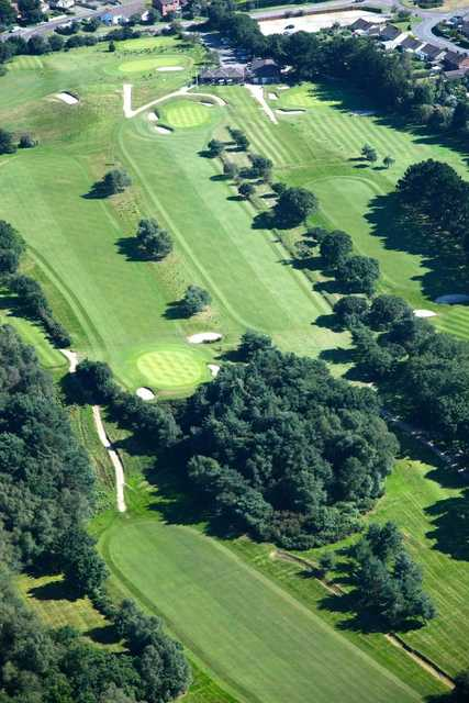 Aerial view from Wareham Golf Club