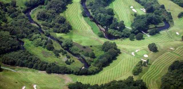 Aerial view from Reddish Vale Golf Club