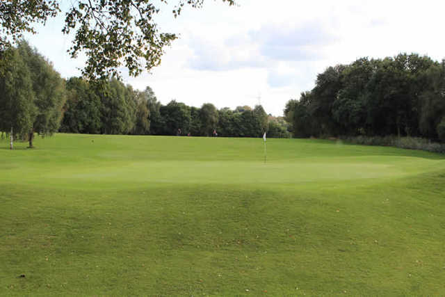A view of hole #15 at Reddish Vale Golf Club