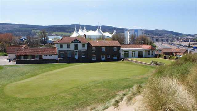 A view of the clubhouse at Minehead & West Somerset Golf Club