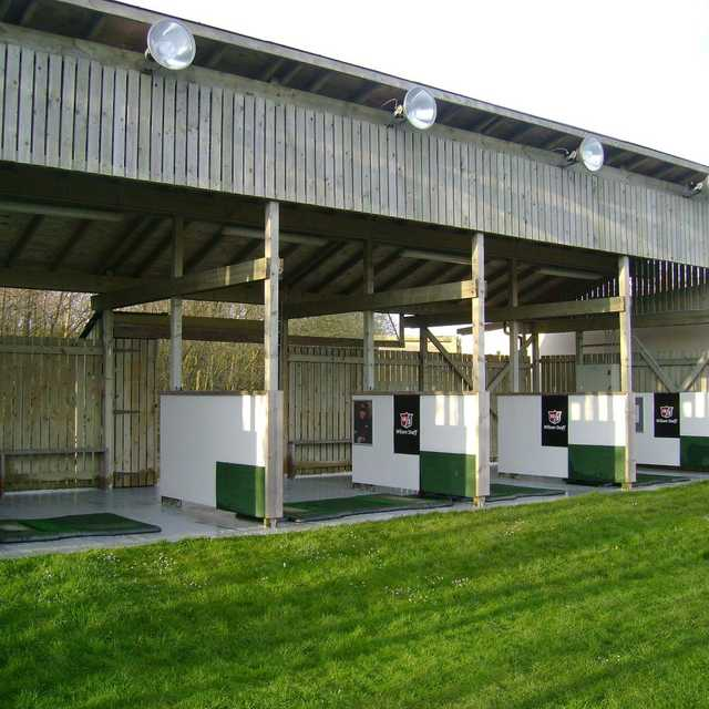 A view of the driving range tees Heysham Golf Club