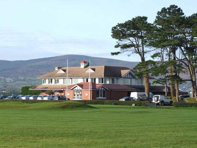 A view of the clubhouse at Greenore Golf Club