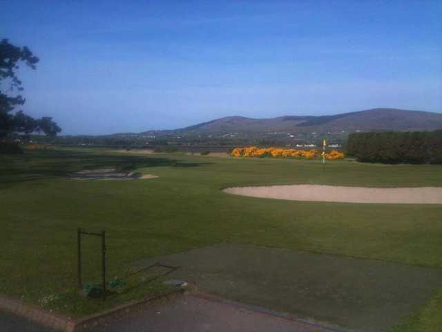 A morning view of a hole at Greenore Golf Club