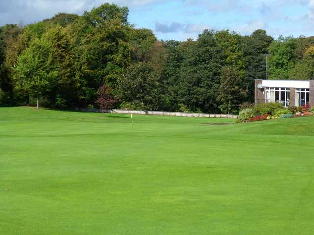 A view of the 18th green at Newtownstewart Golf Club