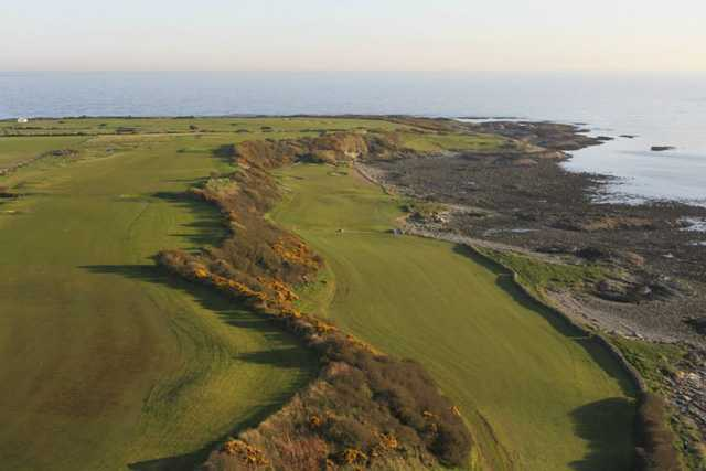 Aerial view of the 9th and 11th fairway at Ardglass Golf Club