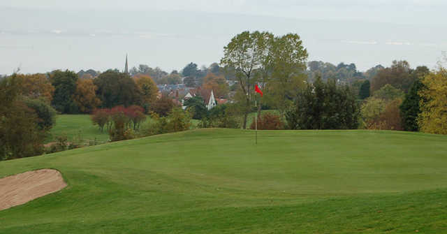 A view of a green at Holywood Golf Club