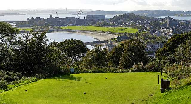 A view from tee #10 at Burntisland Golf House Club