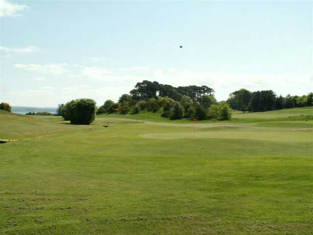 A view of the 2nd green at Stranraer Golf Club