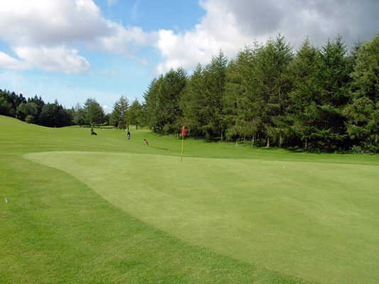 A view of the 5th hole looking back down the fairway at Kirkcudbright Golf Club