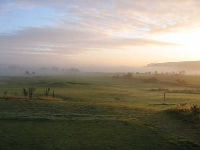 A foggy view from Elmwood Golf Club