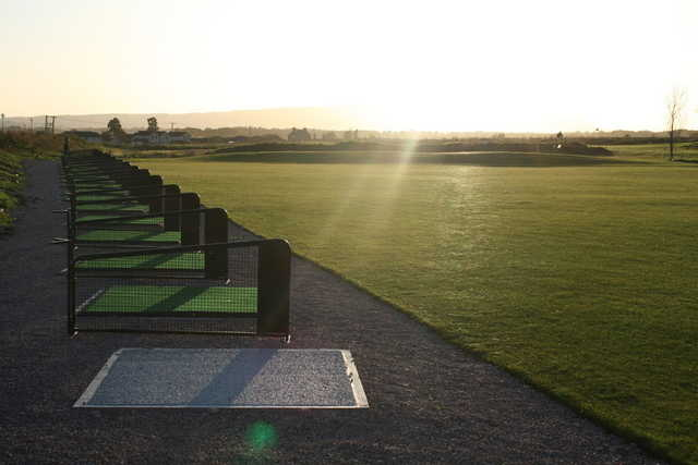 A view of from the driving range tees at Elmwood Golf Club