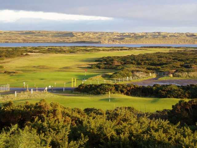 Overlooking the 18th and 9th hole at Newburgh on Ythan