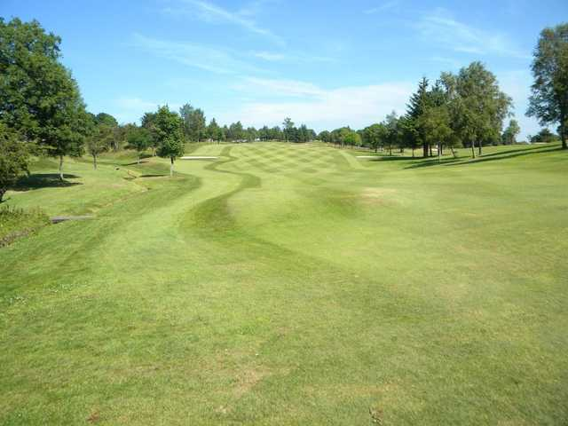 A view of a fairway at Clydebank and District Golf Club