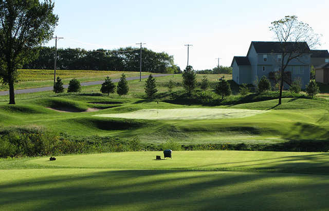 A view from a tee at Falcon Lakes Golf Course