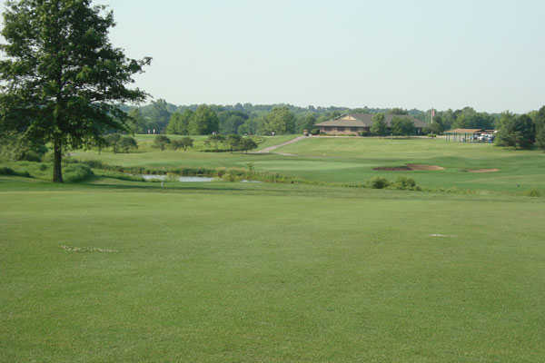 A view from a fairway at Heritage Park Golf Course