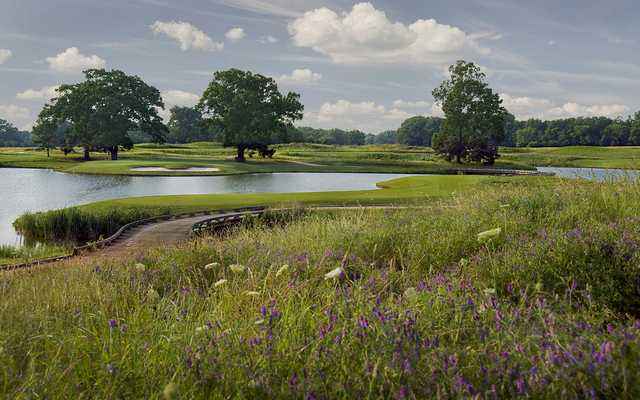 A view of fairway #9 at Fighting Joe Course from Shoals Golf Club