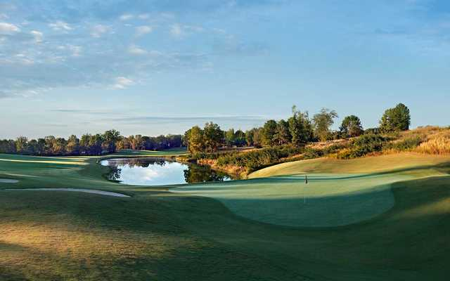 A view of the undulating green #17 at Fighting Joe Course from Shoals Golf Club