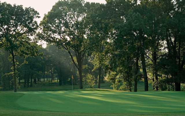 A view of green #5  Schoolmaster Course from Shoals Golf Club