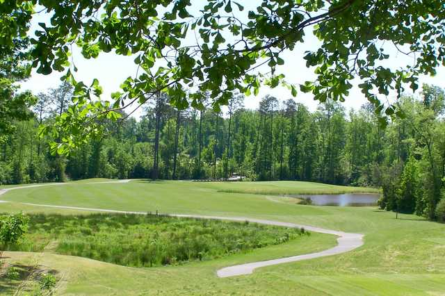 A view of a fairway at White Course from Keith Hills Golf Club