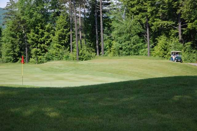A view of a hole at Owl's Nest Golf Club