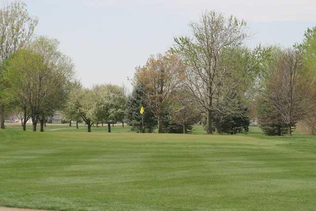 A view of a green at Fox Run Golf Course