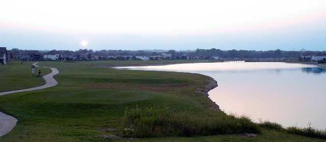 A view of a tee at Fox Run Golf Course