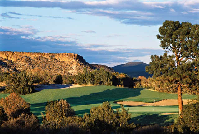 A view of the 16th hole at Cochiti Golf Club