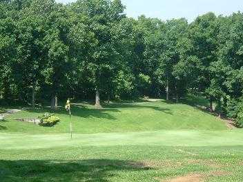 A view of a green at Branchwood Course from Bella Vista Country Club