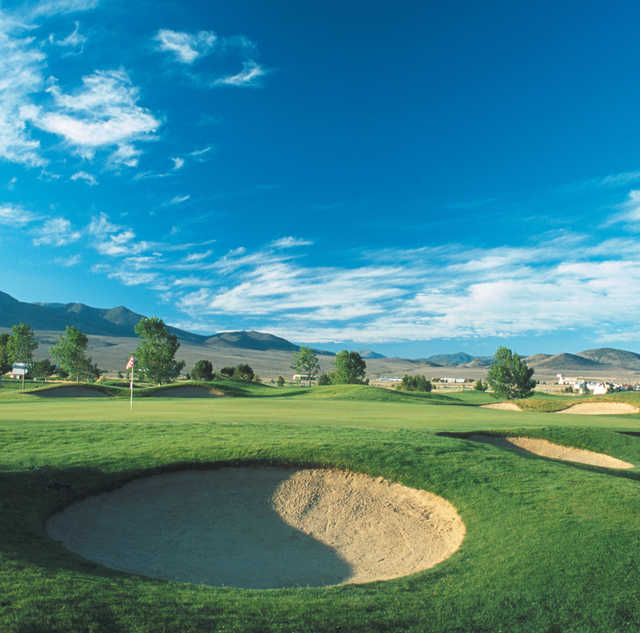 A view of a hole at Dayton Valley Golf Club (Divine 9)