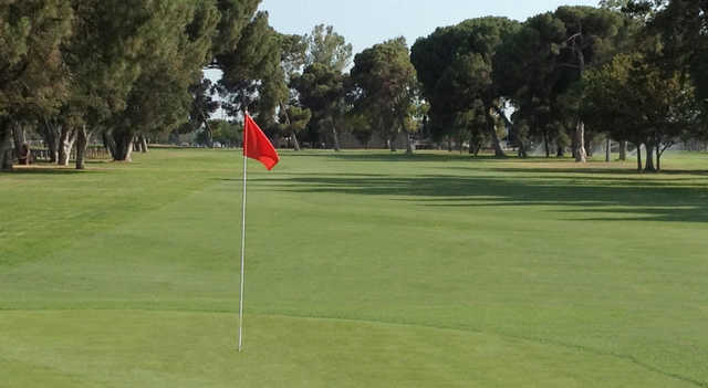 A view of a hole at Modesto Golf Course