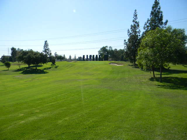 A view of fairway #8 at Rancho Duarte Golf Club