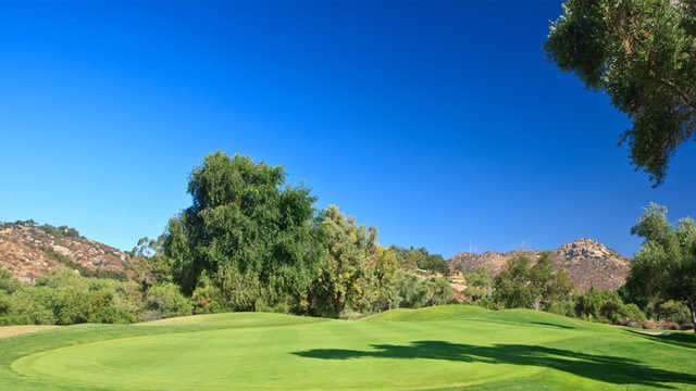 A view of hole #1 from Willow Glen at Singing Hills Golf Resort from Sycuan.