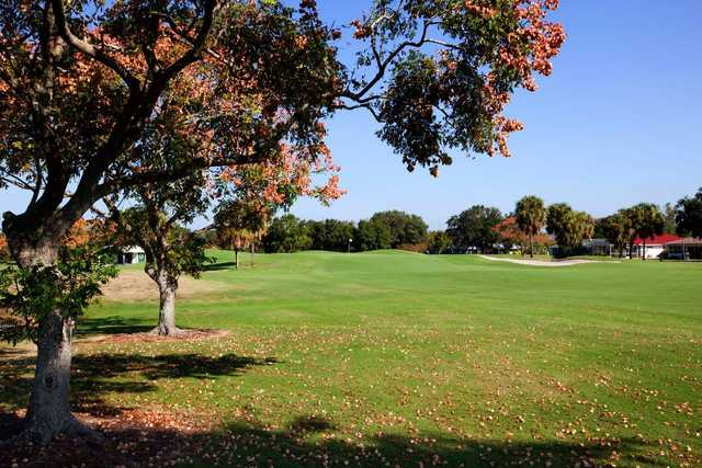 A view of a fairway at Sandpiper Golf Club