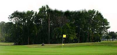 A view of a hole at Baytree Golf Course