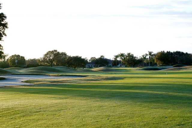 A morning view the 18th fairway at Forest Lake Golf Club.