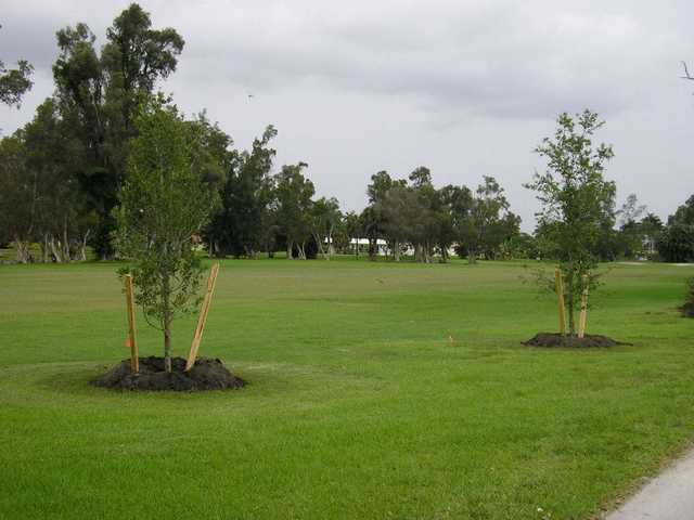 A view of a fairway at Orangebrook Country Club