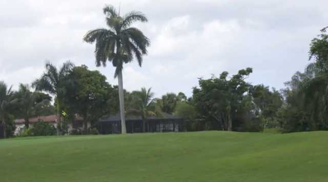 A view of a green at Orangebrook Country Club
