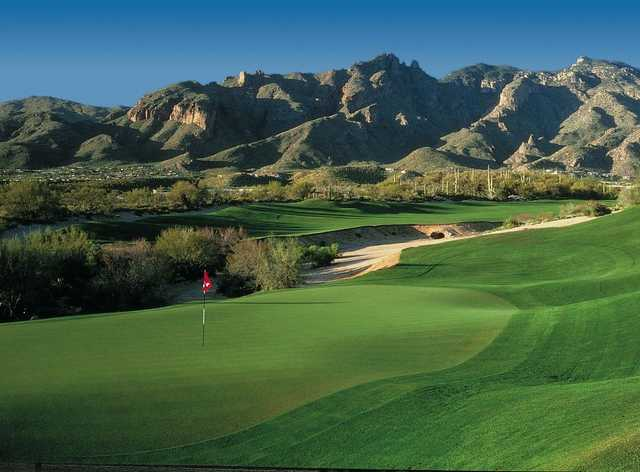A view of a green from Hill at La Paloma Country Club